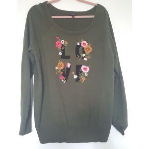 Torrid Light Sweater Top. Size 1